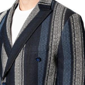 Eli Slim DB Boucle Stripe Blazer Navy/Ivory