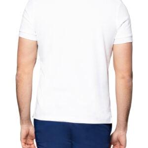 Pierce Rib Collar Polo White