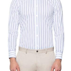 Lex Stretch Stripe Shirt Blue