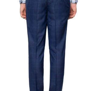 Theo Fine Check Suit Pant Navy