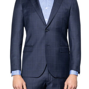 Colt Window Pane Check Suit Jacket Midnight