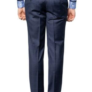 Colt Window Pane Check Suit Pant Midnight