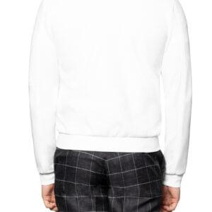 Jax Jersey Button Bomber Jacket Ivory