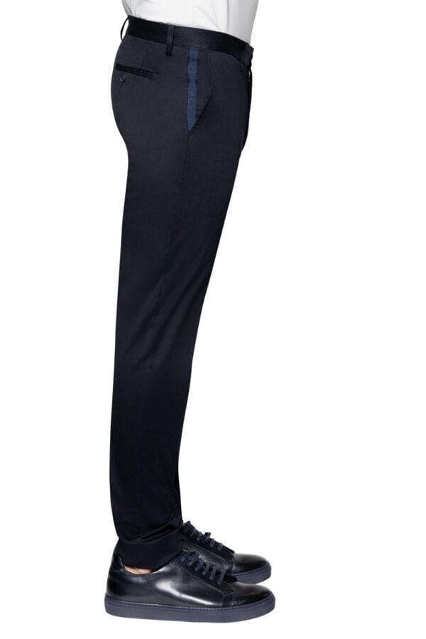 Jay Slim Cotton Stretch Chino Navy