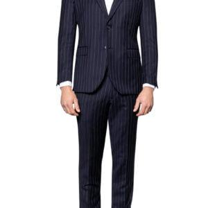 Joel Pinstripe Suit Jacket Navy
