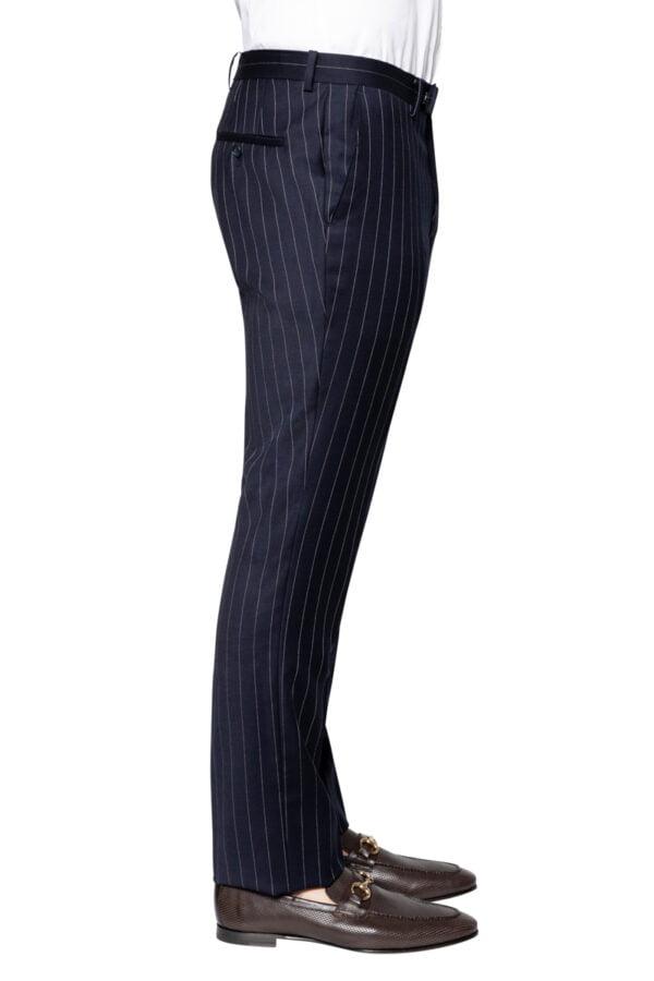 Joel Pinstripe Suit Pant Navy