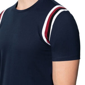 Pierce Shoulder Panel Tee Navy