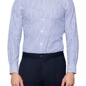 Rik Fancy Stripe Shirt White Navy