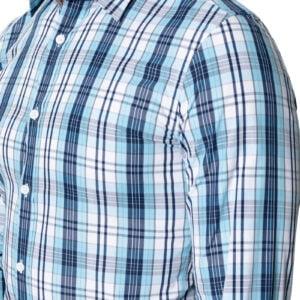 Sal Pastel Check Shirt Teal Navy