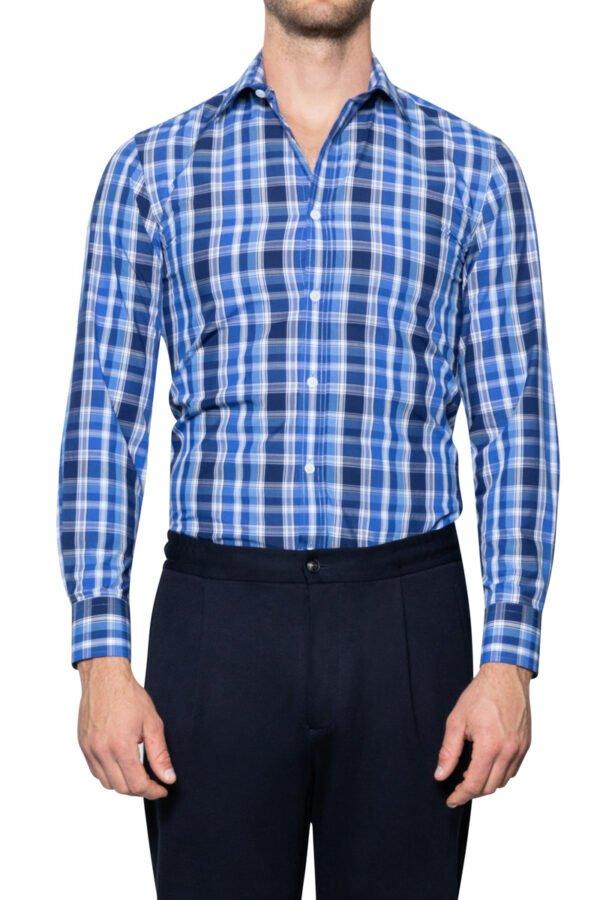 Seb Multi Check Shirt Blue