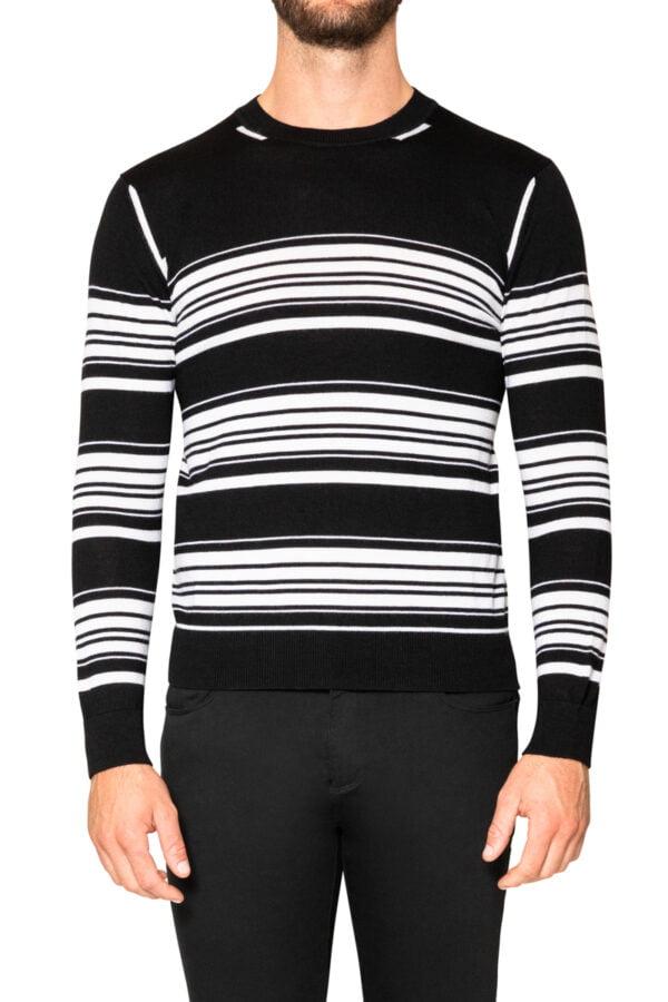 Jake Block Stripe Knit Black/White