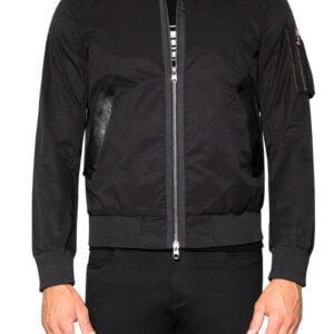 Leo Cotton Zip Jacket Black