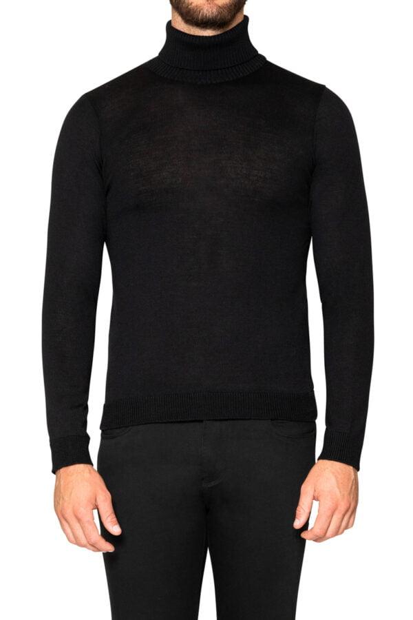 Jake Roll Neck Knit Black