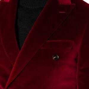 Harry DB Velvet Blazer Ruby