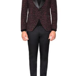 Bryce Tuxedo Jacket Wine/Black