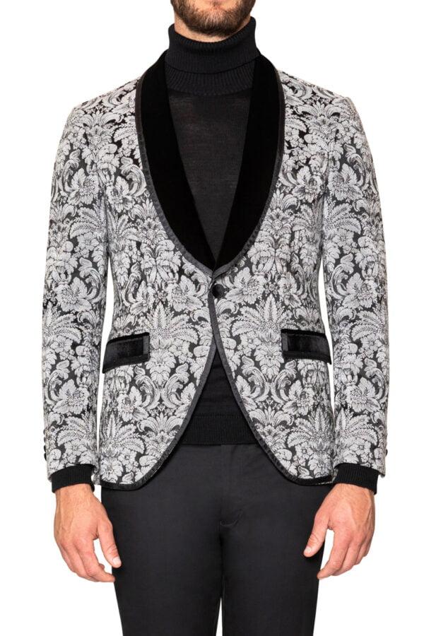 Leon Tuxedo Jacket Ivory/Black