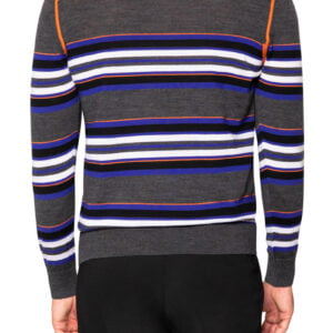 Jake Block Stripe Knit Grey/Orange