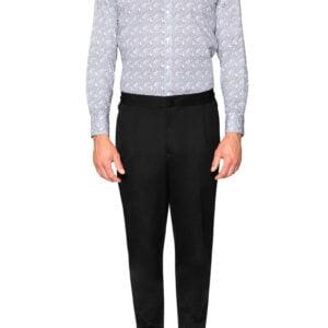 Dan Linea Floral Print Shirt Black/White