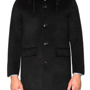 Harris Handmade Hooded Coat Black