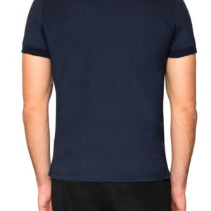 Pierce Rib Collar Polo Navy