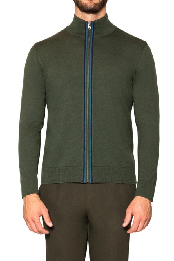 Jake Sport Zip Knit Military