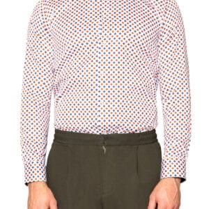 Tamas Printed Shirt Navy/Orange