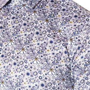 Dilly Print Shirt Navy/Yellow