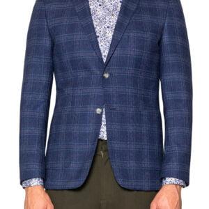 Joe Jersey Check Blazer Blue