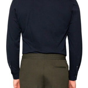 Kye Mercerised Piquet Shirt Navy
