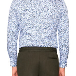 Dylan Micro Floral Shirt White/Navy