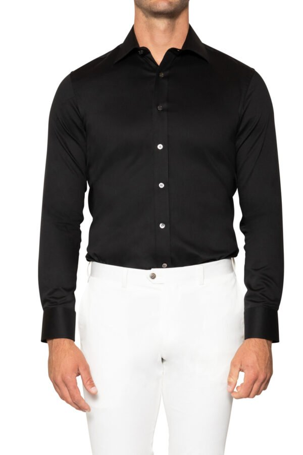 Roy Stretch Shirt Black