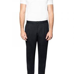 Jude Jersey Cuffed Pant Black