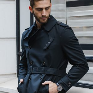 Quinn Belted Trench Coat Black