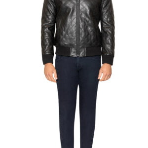 Royce Quilted Leather Jacket Black