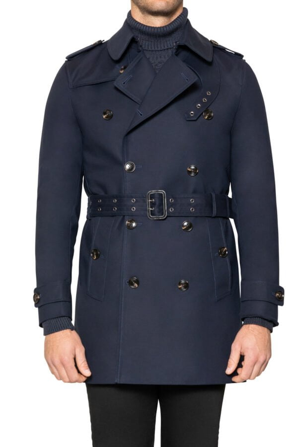 Quinn Belted Trench Coat Navy