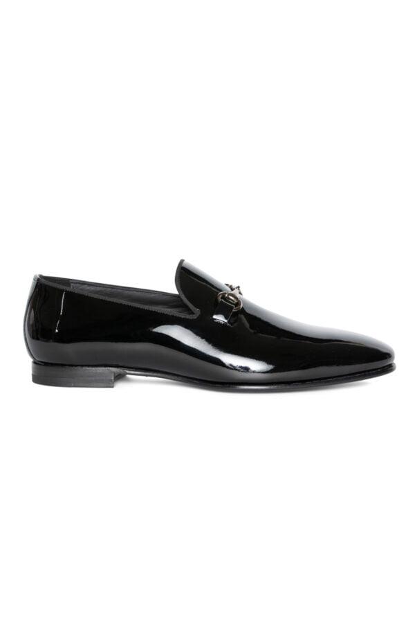 Thomas Patent Tuxedo Loafer Black