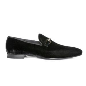 Victor Velvet Loafer Black