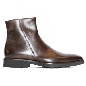 Benito Zip Boot Dark Brown