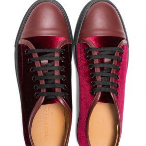 Lex Velvet Sneaker Ruby