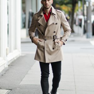 Quinn Belted Trench Coat Stone