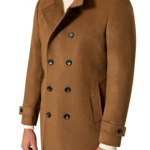 Colby High Neck Coat Camel