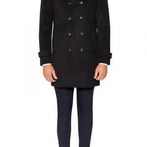 Colby High Neck Coat Black
