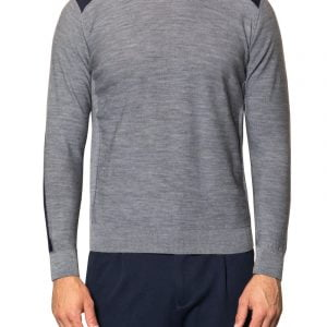 Jake Contrast Knit Grey/Navy