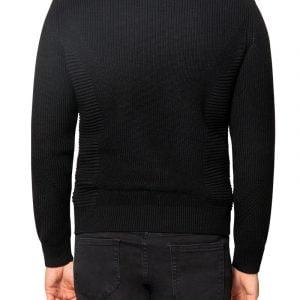 Jake Knit Biker Jacket Black