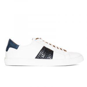 Lenny Woven Sneaker White/Navy