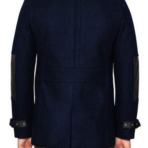 Hinkley Biker Pea Coat Navy