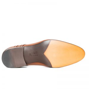 Louis Seamed Lace Up Tan