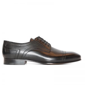 Louis Seamed Lace Up Black