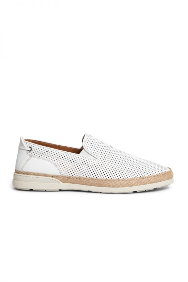 Johnny Perforated Espadrilles WHITE