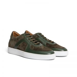 Corey Suede Woven Sneaker Khaki